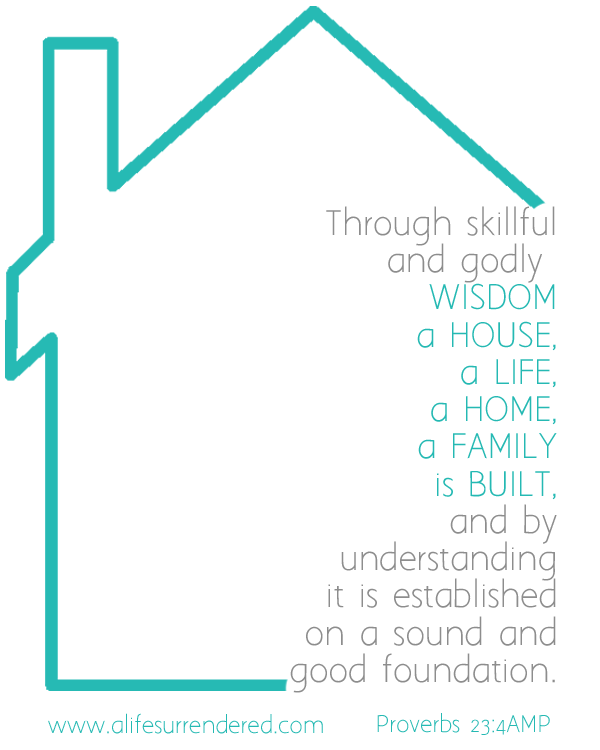 Making of a Home [UNVEILED] By wisdom a home is built. #31Days