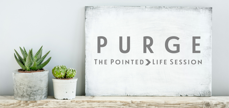 Purge Session: Ridding your life of all that hinders. #thepiontedlife